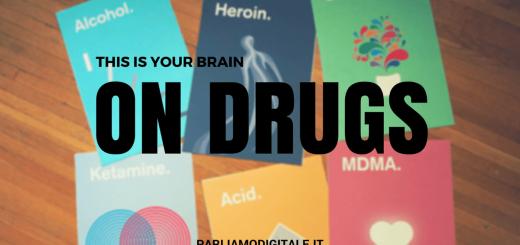 Poster di Meaghan Li: Graphic Designer che illustra gli effetti della droga sul cervello umano